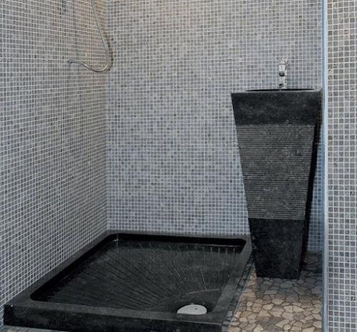 Free Standing Nero Black Marble Bathroom Basin 48 Cm X 48 Cm Pyramid Gorgeous Black Marble Bathroom Model
